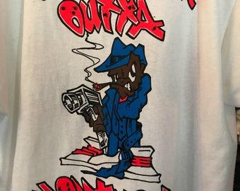 N.W.A shirt vintage t shirt HipHop 90s tee 1990 GanGsta rap tshirt Straight Out Of Comptom t-shirt 1990s streetwear Ice Cube Eazy-E Dr Dre T