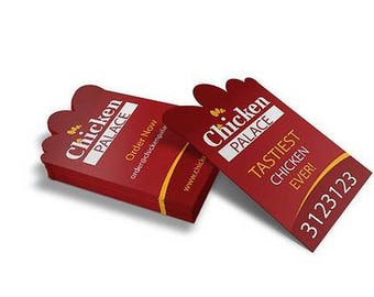 250 Any Shape Die cut Business Cards, Custom Shape Business Cards, Unique Business Cards