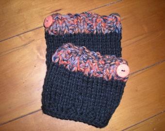 Girl's Knit Boot Cuffs, Fall Knit Boot Cuffs, Girl'sBoot Toppers, Girl's Boot Cuffs