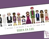 The Greatest Showman inspired This Is Me Cross Stitch - PDF pattern - INSTANT DOWNLOAD