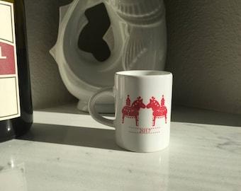 Personalized Christmas Dala Espresso Mug