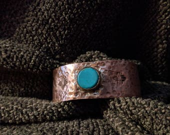 Copper & Turquoise Cuff Bracelet