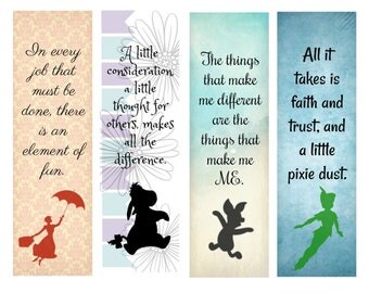Disney bookmark | Etsy