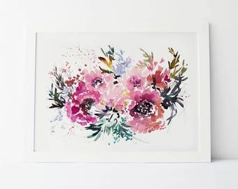 Magenta Blooms - Fine Art Print