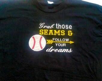 Dream Shirt - Dream Big - Shirt With Saying - Follow Your Dreams - Baseball Shirt - Baseball Player - Baseball Fan Gift - Inspirational
