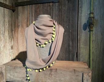 Triangular scarf, viscose