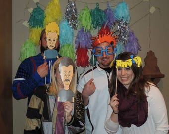 90s Photo Booth Party Props- Perfect for the ultimate 90s party. Rugrats ,beavis and butthead, Daria & much more! Digital Copy