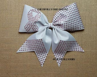 Best and Trending Customized Unique Glitter Hope Cheer Bow by Cheerfully Ours Boutiq
