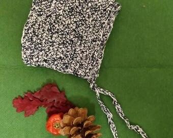 Handmade crochet baby pixie bonnet 6-12m