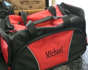 monogrammed duffle bag, monogrammed gym bag, monogrammed travel bag, personalized duffel bag, mens gift, groomsman gift