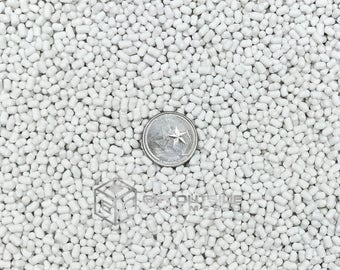 CLEARANCE - 5, 10, 16, 24, 52 or 67 lbs Medium Weight White Plastic Poly Pellets for Craft Projects and Weighted Blankets - Free Shipping