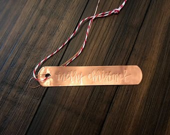 Christmas Gift Tags - Copper
