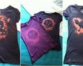 girls t-shirts cat octopus owl dark colours