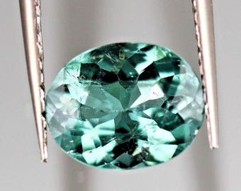 Tourmaline Greenish Blue , VS-1.55-ct-Oval-shape-Greenish-Blue-color-Tourmaline-from-Afghanistan