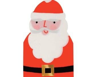 Santa Napkins, Meri Meri Party Napkins, Christmas Paper Napkins (16) Christmas Party Decor, Children's Party Supplies, Kids Christmas Table