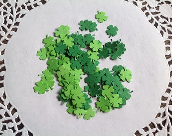 4 leaf clover confetti, St Patty's day party, shamrock confetti , green confetti,
