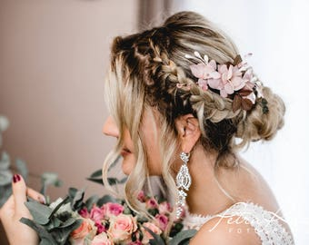 N15 Bridal Veil, wedding hairstyles, Bohos, bridal hairstyles, hair ornaments, comb, bridal headpieces, Fascination, vintage, ivory