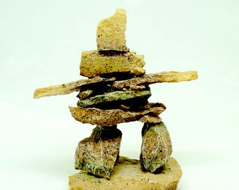"Inuit Inukshuk; Figurine; Approx. 4.5""h x 4""w; Nice Detail !!!"