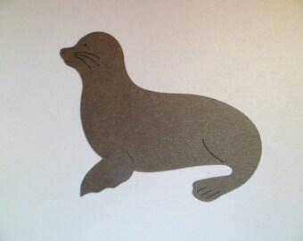 Die Cut Seal x 6 in Grey