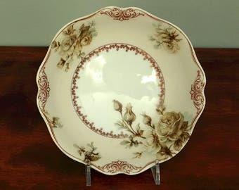 Hermann Ohme Old Ivory 75 Oatmeal Bowl Silesia Porcelain
