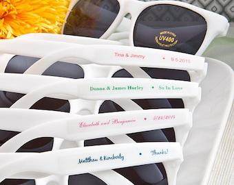 Personalized White Sunglasses - Beach Wedding Bridal Shower Favor 50-200 Qty  6777
