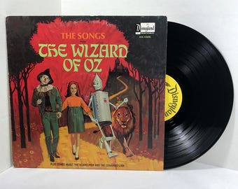 Disneyland The Songs From The Wizard Of Oz (Plus Songs About The Scarecrow And The Cowardly Lion) vinyl record 1969 VG+ Children Kids