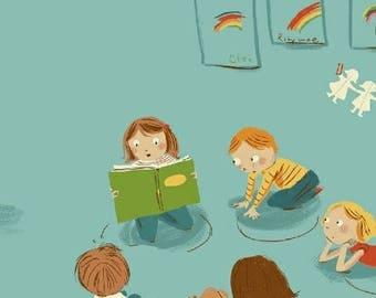 Kinder - Kindergarten Blue - Heather Ross - Windham (43480-4)