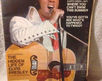 Vintage May 4,1971 LOOK Magazine-The Hidden Life of Elvis Presley VG+