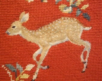 Needlepoint and Petit Point Spotted Fawn - Finished