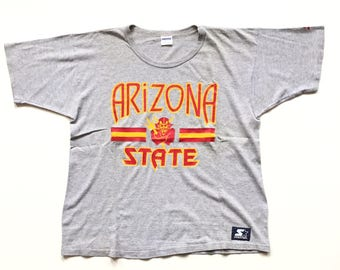 80s STARTER Arizona sun devils ncaa football t shirt size large L 80s single stitch tee made in usa cotton rayon