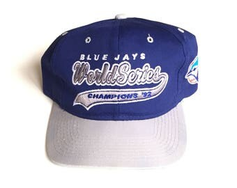 Vintage Toronto Blue Jays World series champs starter script Snapback MLB Baseball Snap back Strapback hat Adjustable Twill One Size adjust