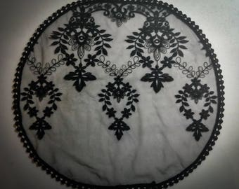 Evintage Veils~ Our Lady Of Fatima Princess Style Black Lace  Traditional Catholic Lace  Mantilla Chapel Veil