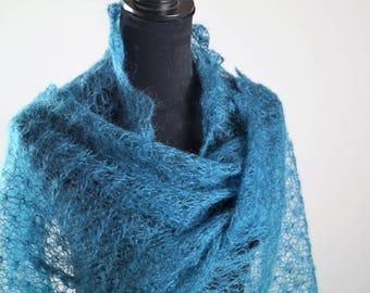 Green Scarf,Handmade Scarves,Warm Scarf, Knitted scarf,Winter Scarf,Mohair Scarf,Green Scarves,Women's Scarf,Wool Scarf,Handmade Scarf