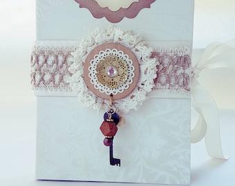 White Elegant Vintage Journal
