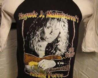 Size M- (39) ** Rare 1984 Yngwie Malmsteen Concert Shirt (Double Sided) (Deadstock Unworn)