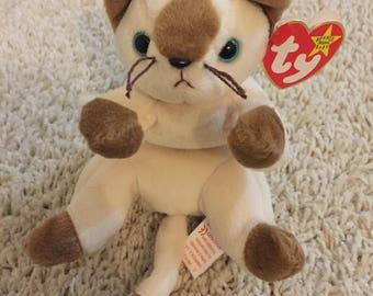 Snip the Cat TY Beanie Baby plush toy kitten