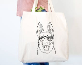 Brutus the German Shepherd Dog Canvas Tote Bag