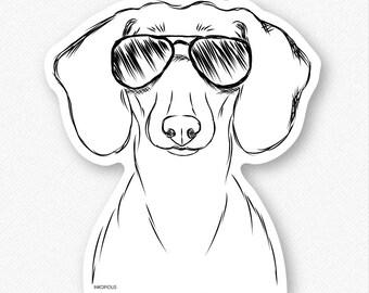 Hans the Dachshund Vinyl Decal Sticker - Gifts For Dog Owner, Dachshund Lover, Wiener Dog Art, Dachshund Wall Art, Dachshund Decal