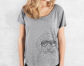 Teddy the Labradoodle - Tri-Blend Dolman Grey - Dog Lover Gift, Dog Mama TShirt, Love My Dog, Gift for Mom, Labradoodle Gift, Labradoodle