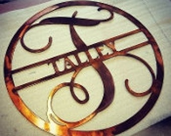Patina Monogram with last name