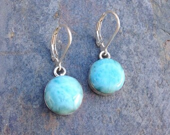 Larimar earrings / Dominican Larimar