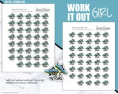 Work It Out Girl   Weekly PRINTABLE Planner Stickers  for Erin Condren, Plum Planner, Filofax, Happy Planner or Any Size Planners