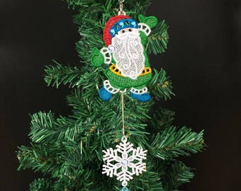 FSL Christmas Ornaments 13 Free Standing Lace Machine Embroidery Designs Instant Download 4x4 hoop 10 designs APE2624