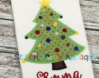 Fancy Christmas Tree Shirt, Christmas Tree Applique, Christmas Tree Shirt, XMAS Tree Shirt, Girl XMAS Shirt, Christmas Shirt, Girl Christmas