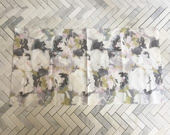 Silk Floral Voile Cotton Print Fabric Remnant