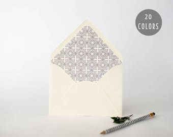 moroccan lined envelopes (20 color options) - sets of 10  // envelope liners lined envelope modern wedding shower party invitation invite