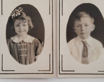 Brother and Sister School Photos 20s