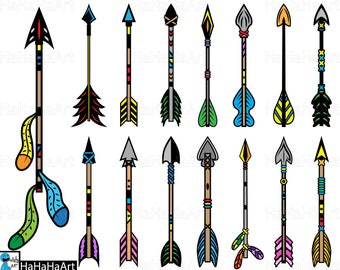 Native Arrows - Clipart / Cutting Files svg png jpg dxf studio3 digital graphic design Instant Download Commercial Use native arrows 01087c