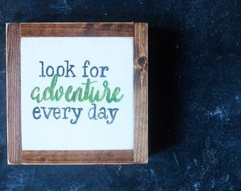 "HAND PAINTED SIGN // 8"" Adventure"