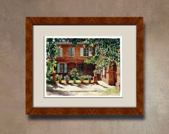 Watercolor of your home - House of Haute-Garonne